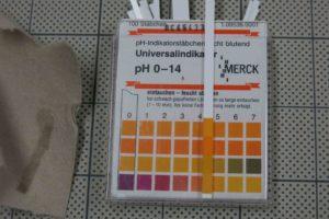 芯紙pHは4.5を示す