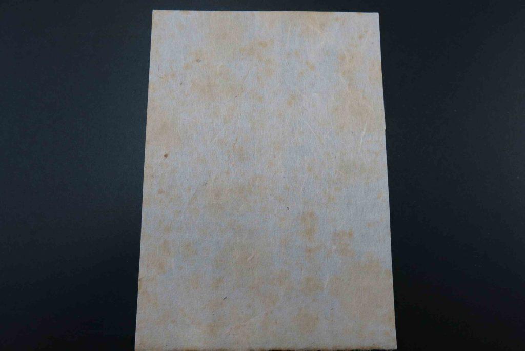 図1  フォクシングが生じた和紙