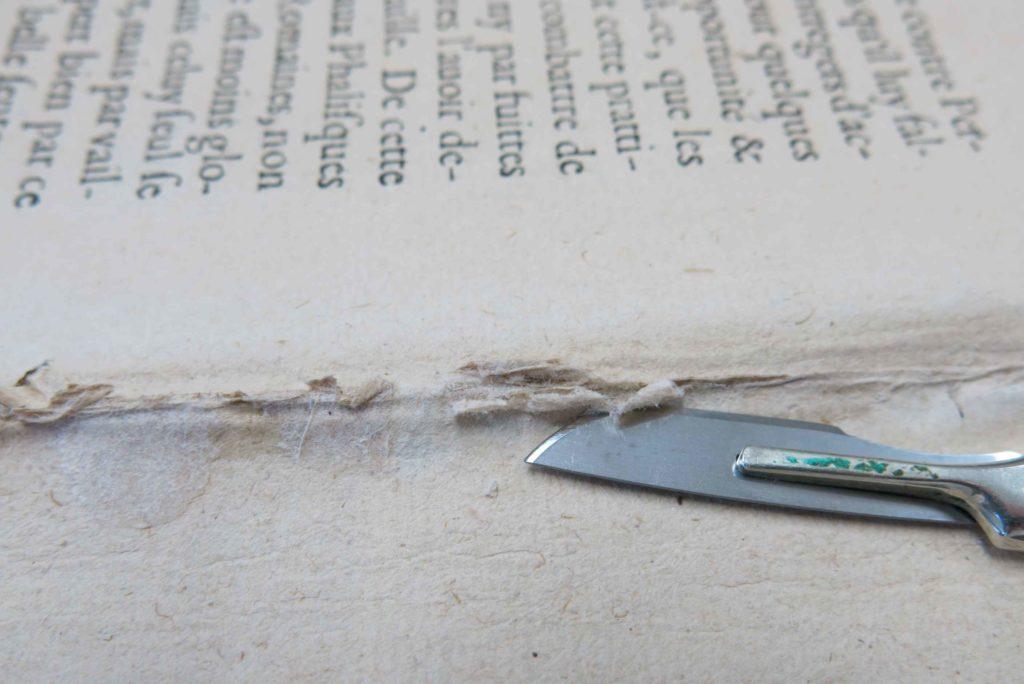 本文紙のPVAcを除去