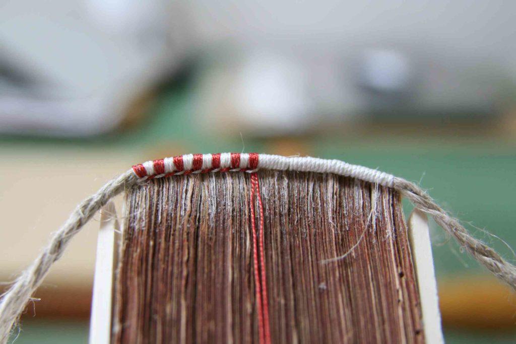 花布の編み直し