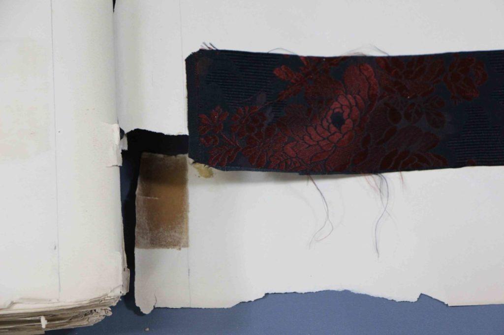 台紙の破損、欠損(処置前)